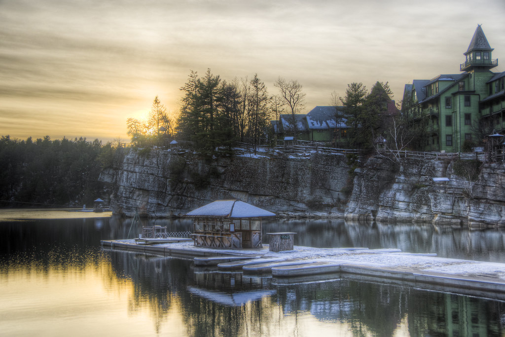 Mohonk Dock Snow