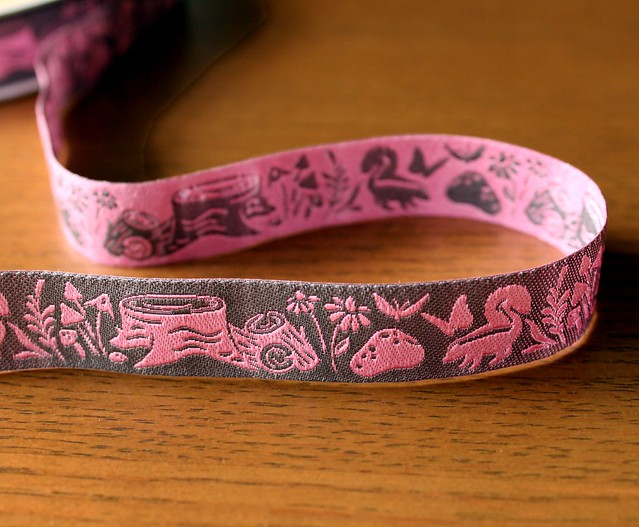 Renaissance Ribbons Woodland Animal Blush Meadow Reversible