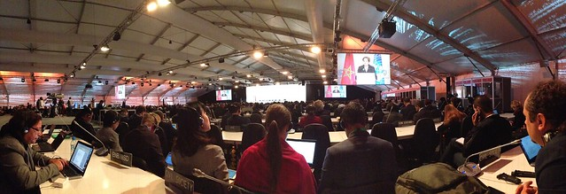Inside Casablanca plenary room for openning plenary COP22