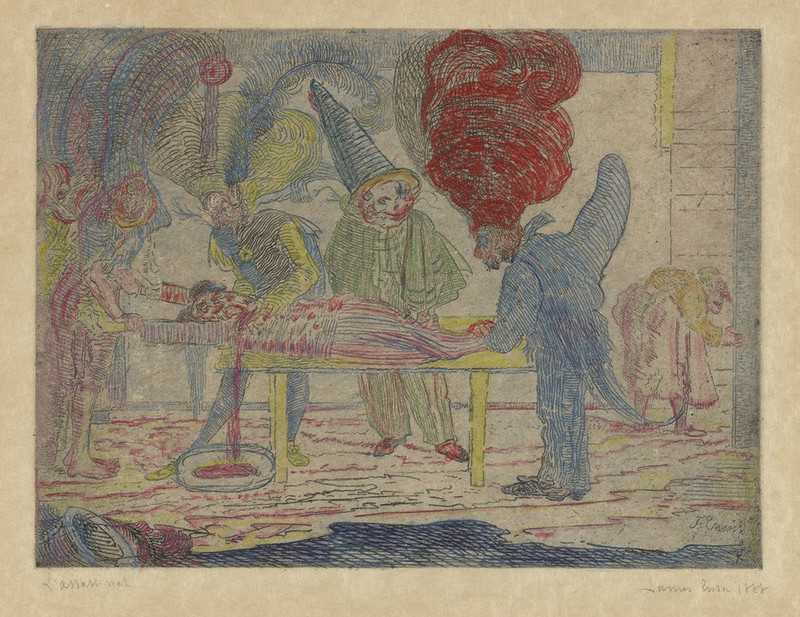 James Ensor - The Assassination 1888