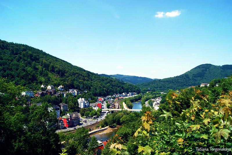 Долина реки Ленне, вид с холма