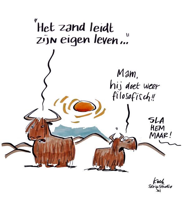 Cartoons Lopende Duinen Makathon Dag 1
