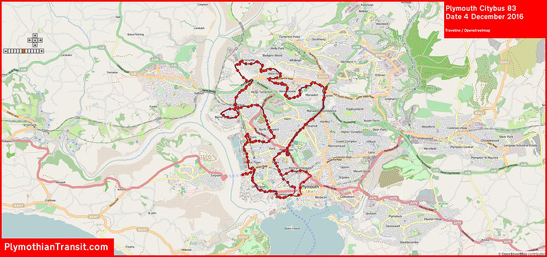 2016 12 04 Plymouth Citybus Route-083 MAP.jpg