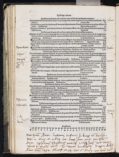 Seneca, Lucius Annaeus: Opera philosophica - Annotations and ownership inscription