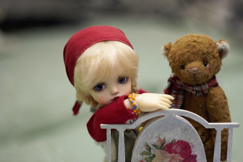 playing my friend's dolls