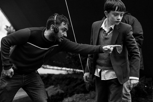 A Monster Calls - Backstage - J.A. Bayona andLewis MacDougall