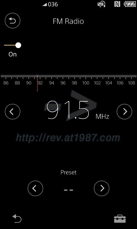 Sony Walkman A30 - FM radio