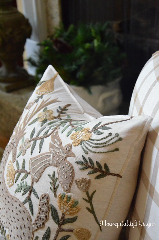 Deer Applique Pottery Barn Pillow - Housepitality Designs