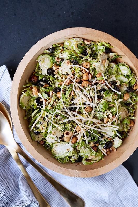 Shredded Brussels Sprouts Salad - Tasty Yummies