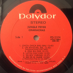 CHAKACHAS:JUNGLE FEVER(LABEL SIDE-A)