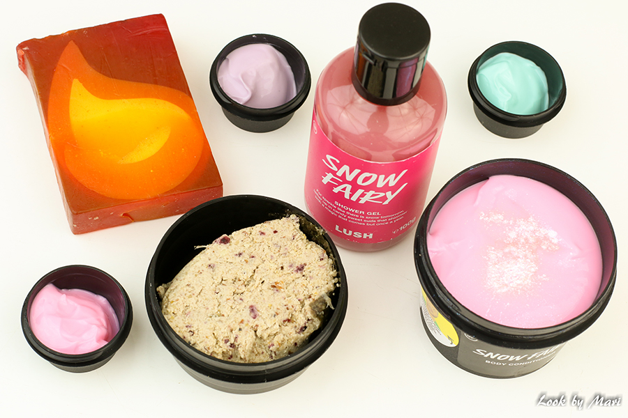 3 Lush christmas products limited edition joulutuotteet snow fairy