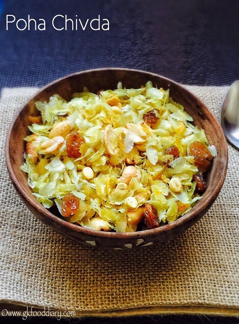 Poha Chivda Recipe for Toddlers and Kids3