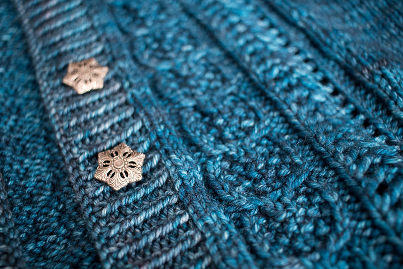 Acorn Trail sweater detail
