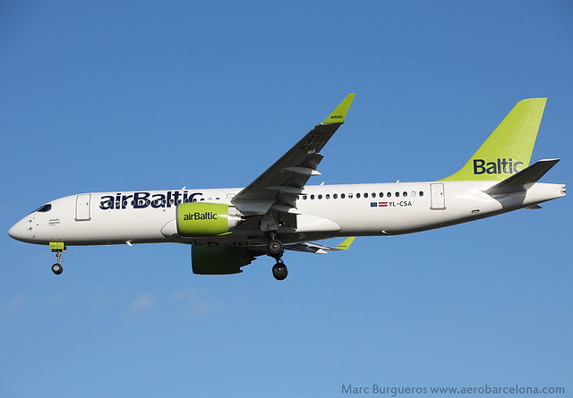 AIR BALTIC CS300 YL-CSA