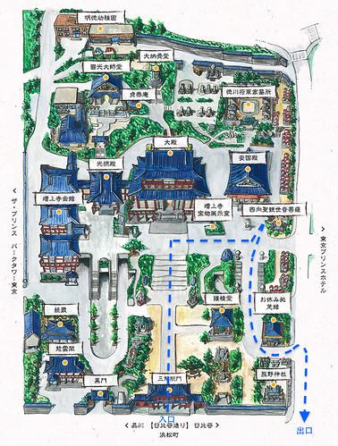 增上寺 Map2