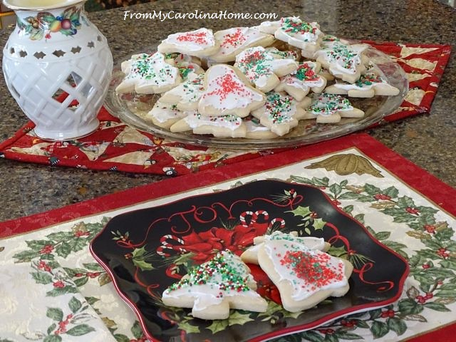 Christmas Vanilla Sugar Cookies ~ From My Carolina Home