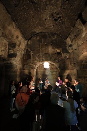 Gli interni del mausoleo