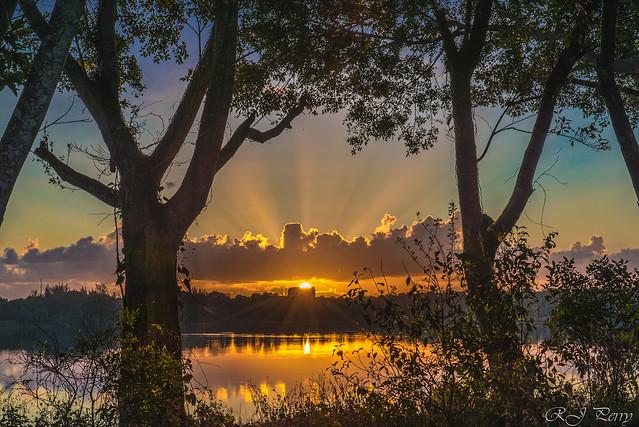 Sunrise Across the Lake