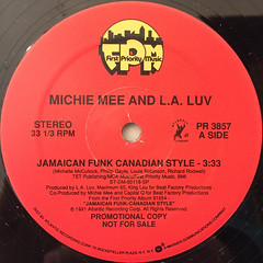 MICHEE MEE AND L.A. LUV:JAMAICAN FUNK CANADIAN STYLE(LABEL SIDE-A)