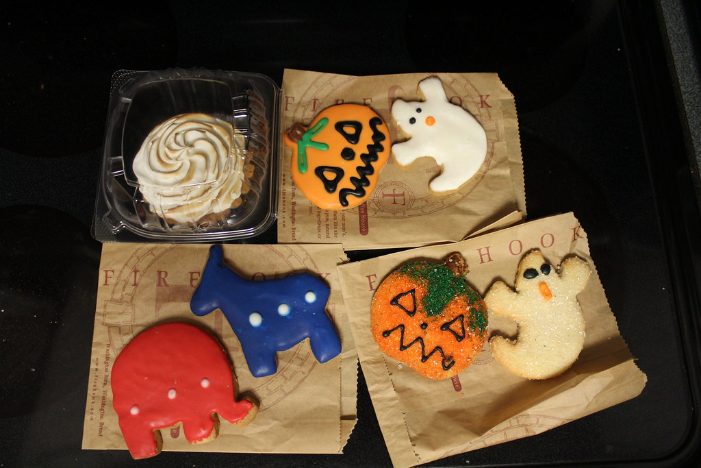 Halloween cookies and political party cookies
