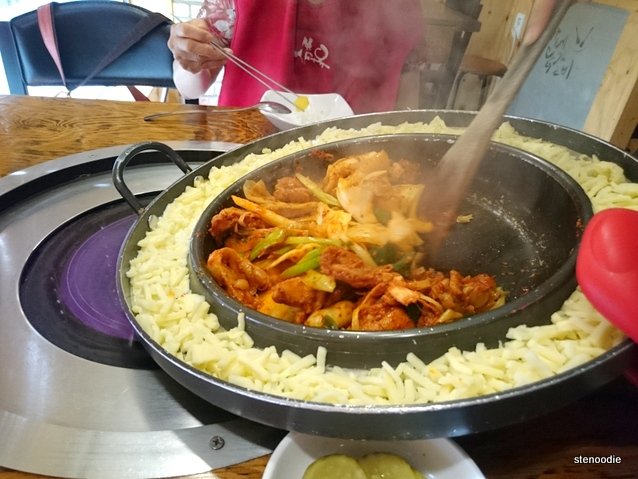 cheese chicken galbi
