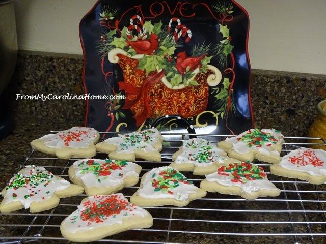 Christmas Vanilla Sugar Cookies ~ From My Carolina Home