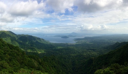 Taal Volcano from Tagaytay (panorama)