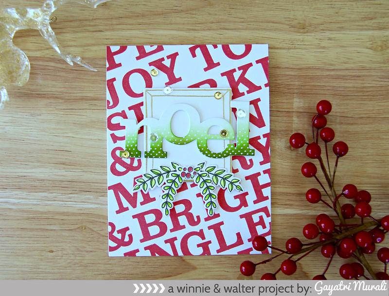 Green Noel card flat