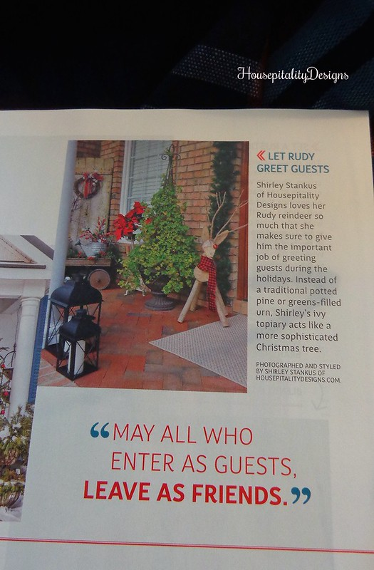 Christmas Porch Magazine Feature - Housepitality Designs