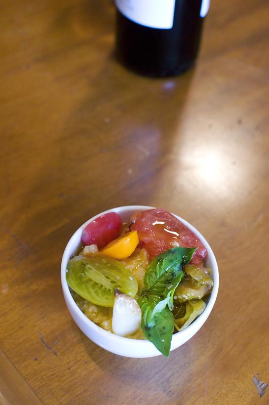 smoked tomato risotto