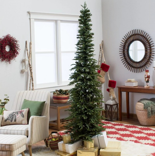 Slim Christmas Tree Decorating in Small Spaces