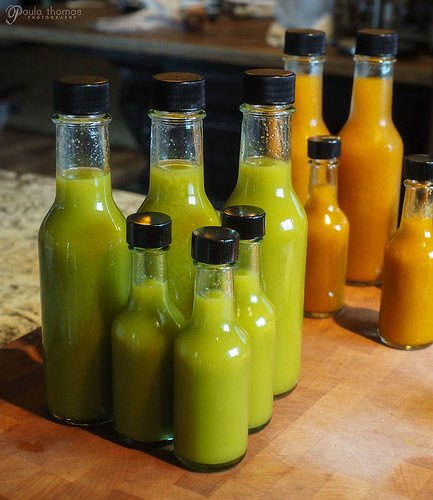 Green Ghost Sauce Bottled