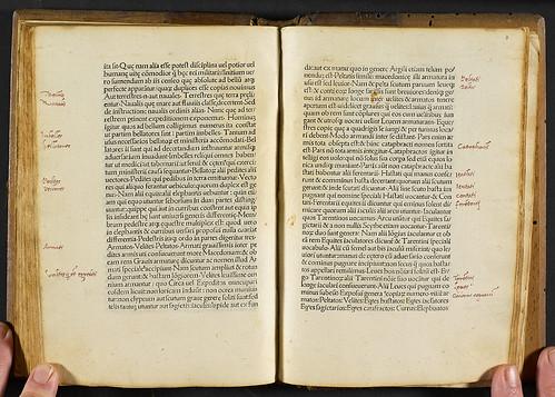 Aelianus Tacticus: De instruendis aciebus - Manuscript annotations