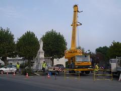 Déplacement du monument aux morts