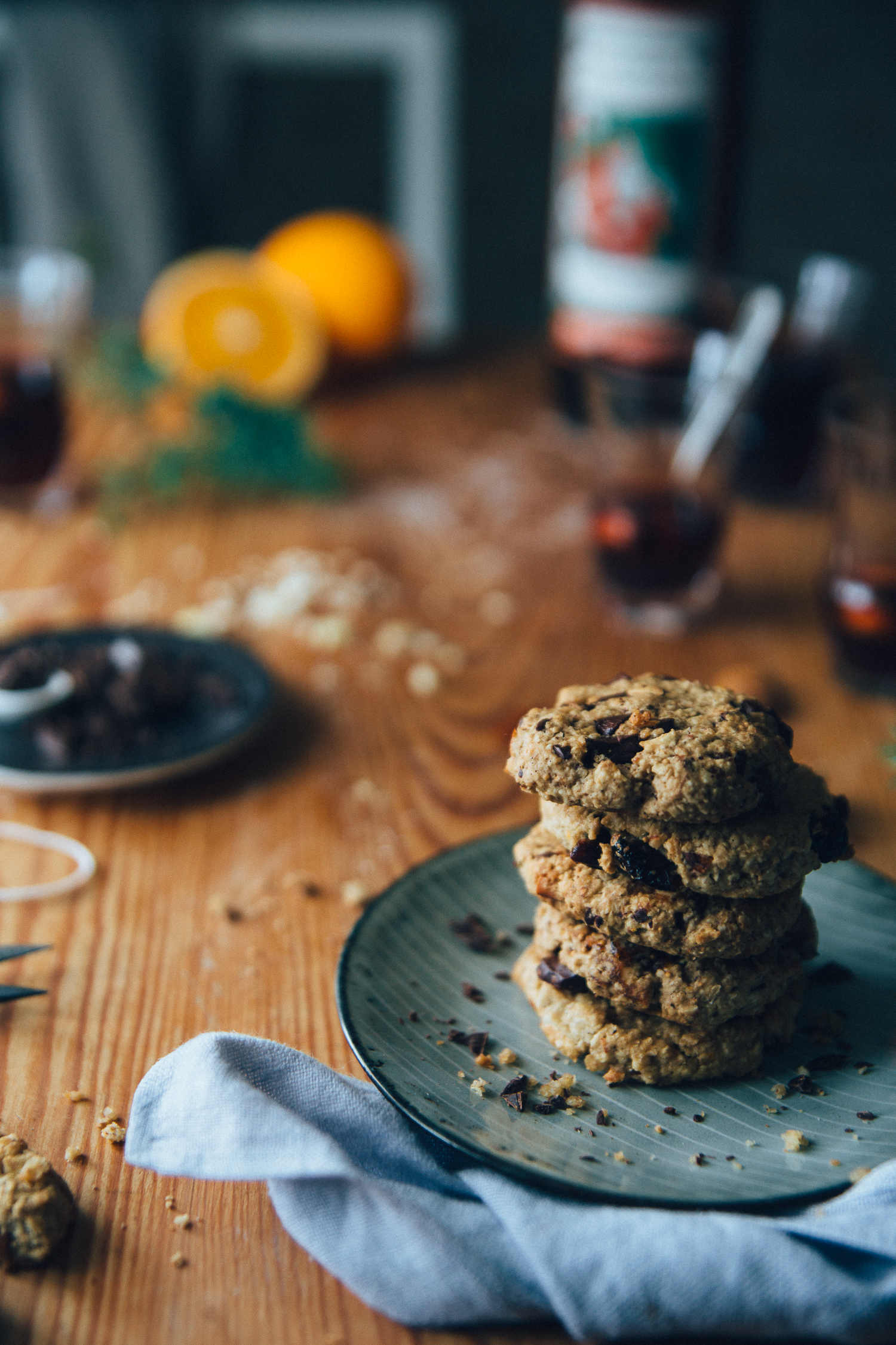 White/dark chocolate cookies with cranberries & figs | Cashew Kitchen