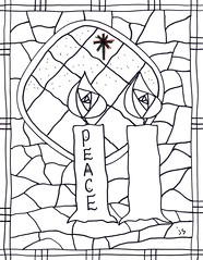 advent coloring pages joy - photo#16