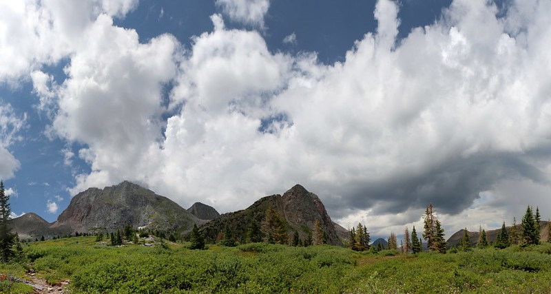 Peters Peak (13122 feet) and Buffalo Peak (12728 feet)