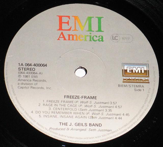 J.Geils Band - Freeze Frame