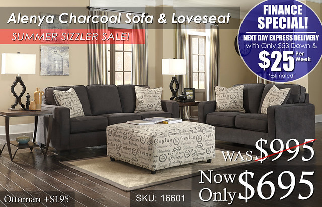 Alenya Charcoal LR Set Sizzler FINANCE