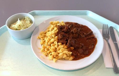 Beef stew with spaetzle / Rindergeschnetzeltes mit Spätzle