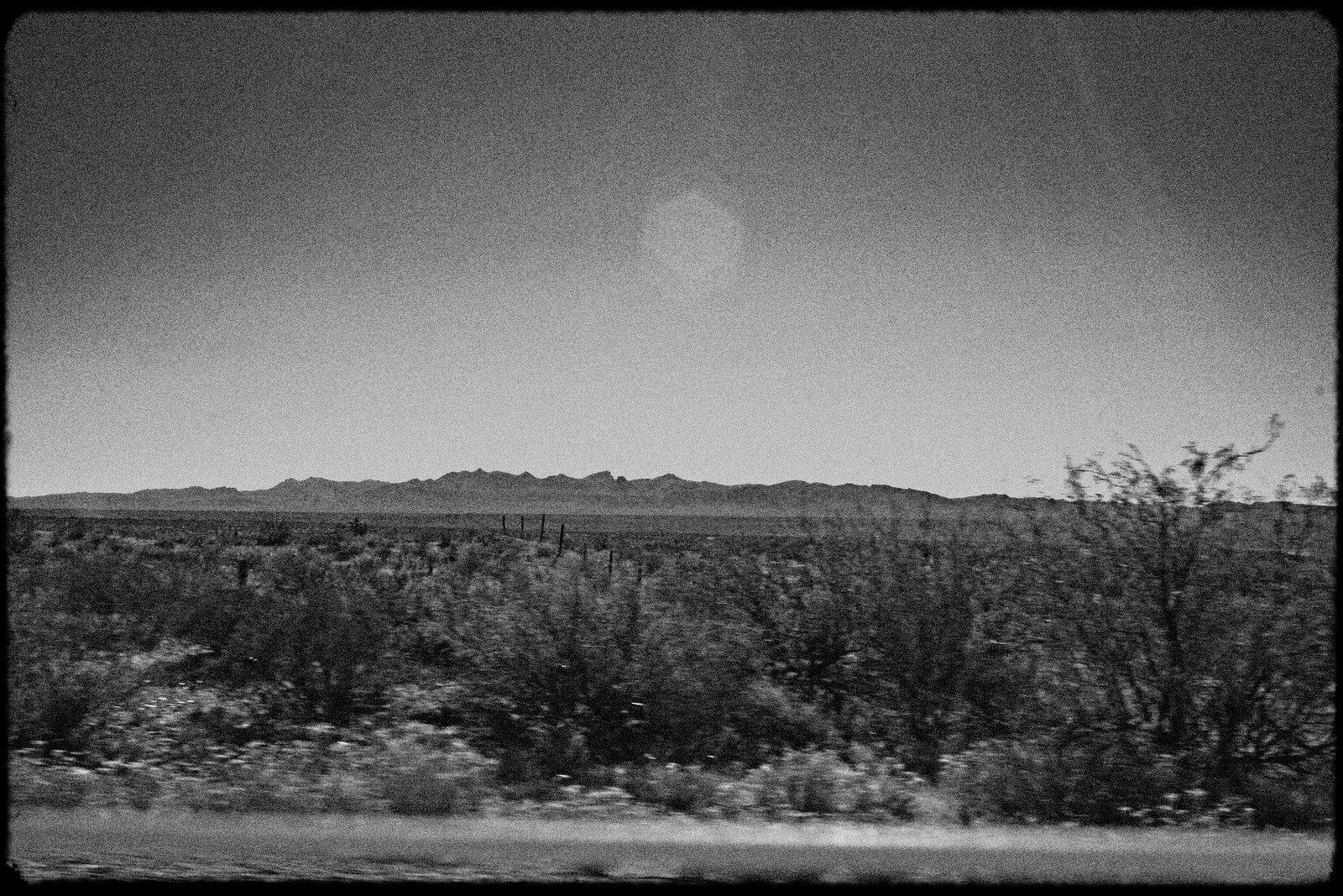 Facing Mexico, Interstate 10, West Texas, 2006