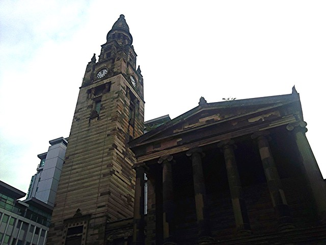Front elevation of St Vincent Street Church, Glasgow, Scotland.
