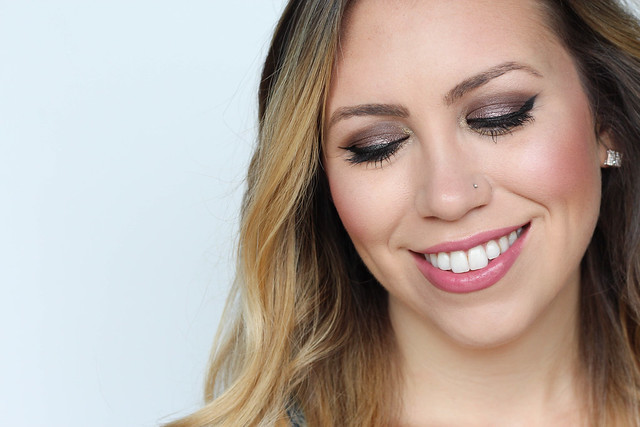 Frosty Metallic Wine Eyeshadow Berry Lips Cheeks   Warm Fall Makeup Living After MIdnite Jackie Giardina Beauty Blogger
