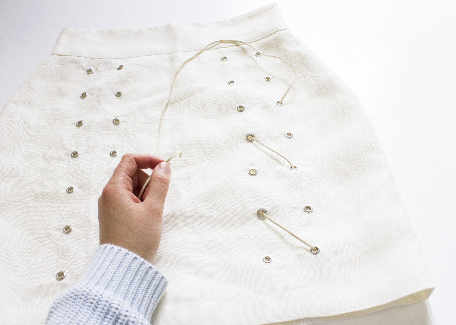 DIY Grommet Lace Skirt