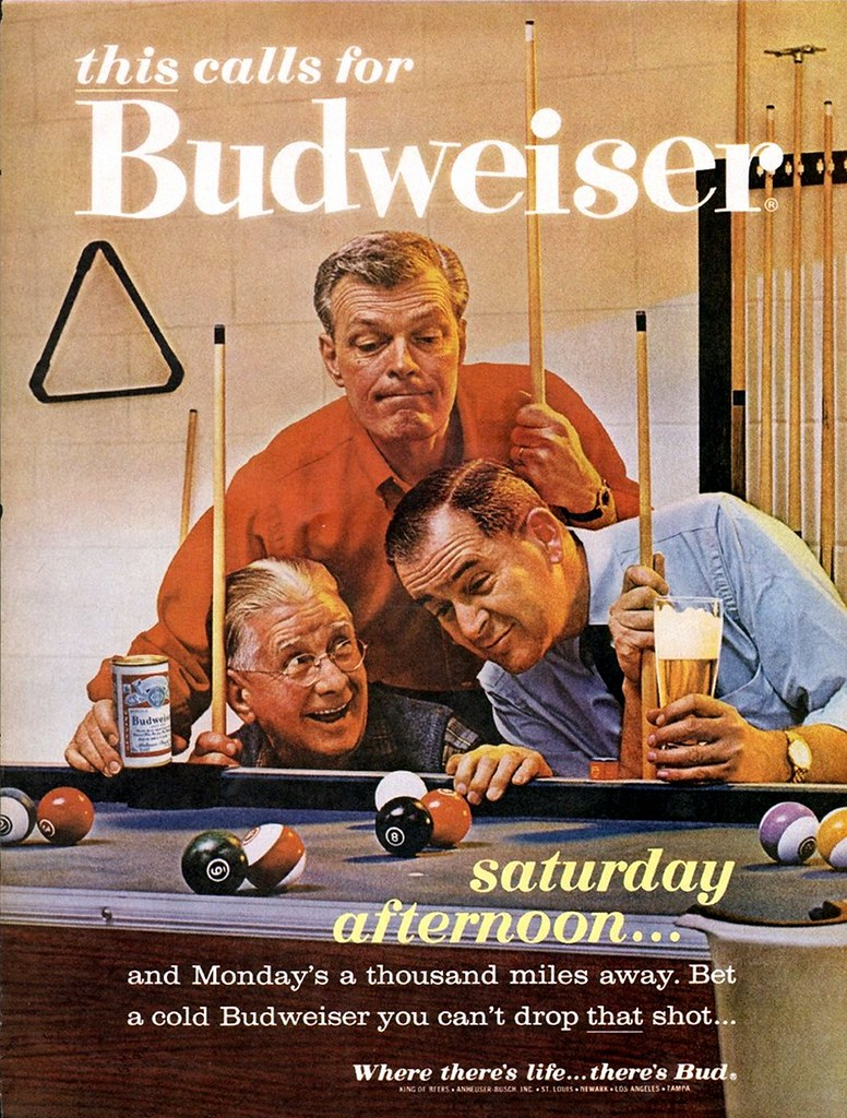 1963-this-calls-for-Budweiser-saturday-afernoon