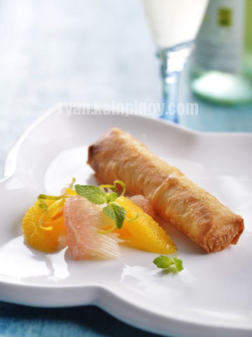 Dayap Cheesecake Lumpia with Citrus Fruits Salad copy