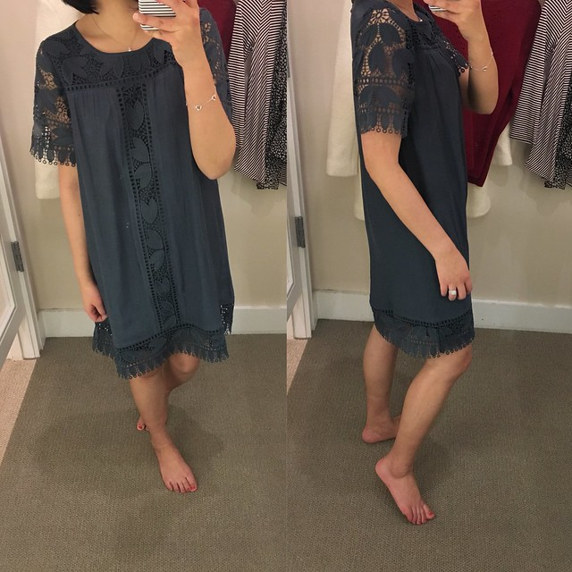 LOFT Tulip Lace Swing Dress, size XS regular