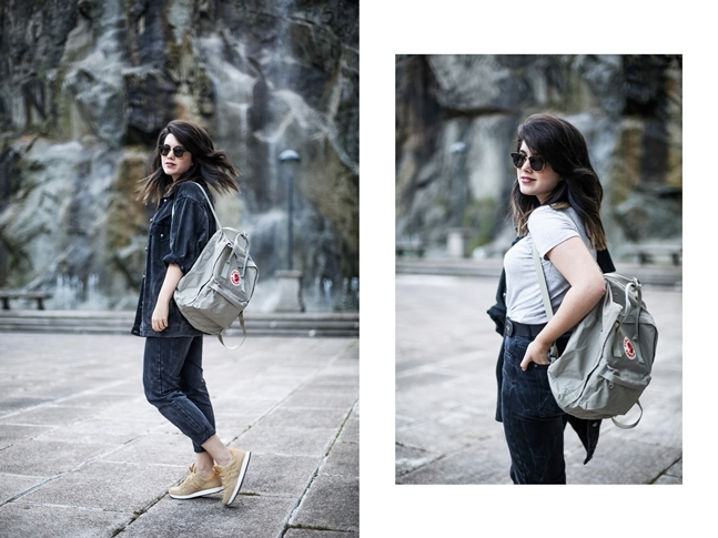 basic look with mom jeans saucony originals sneakers and kanken fjallraven6