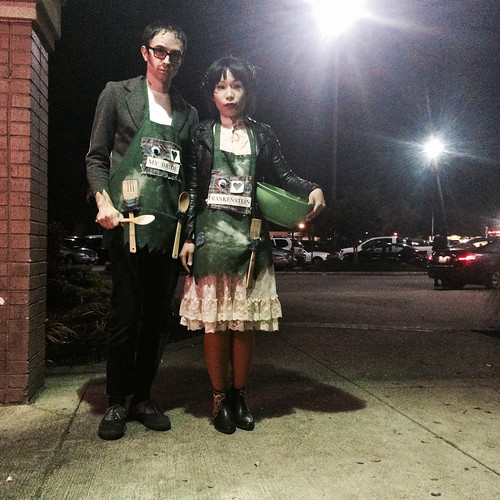 Ana and I as Frankenstein and Bride (October 31 2015)