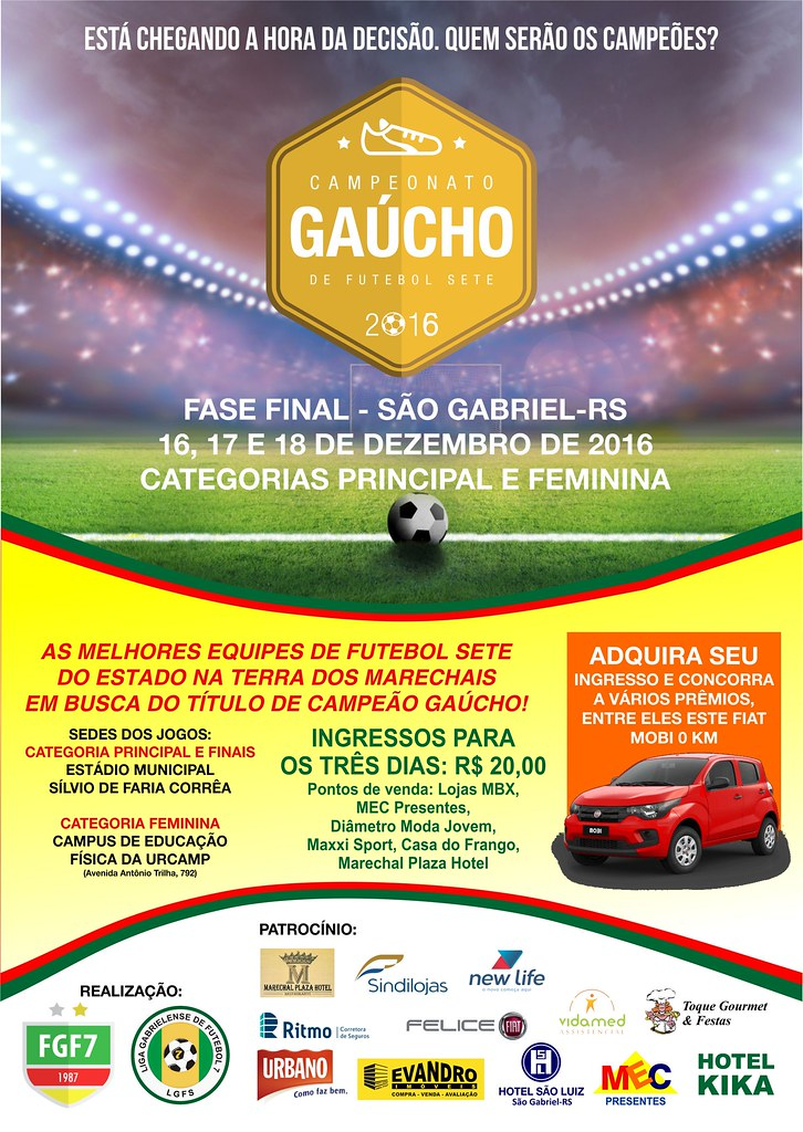 Campeonato Estadual de Futebol Sete - Fase final